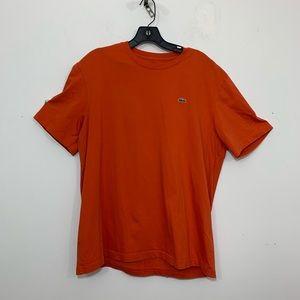 Lacoste Shirt Adult Extra Large Size 7 Orange